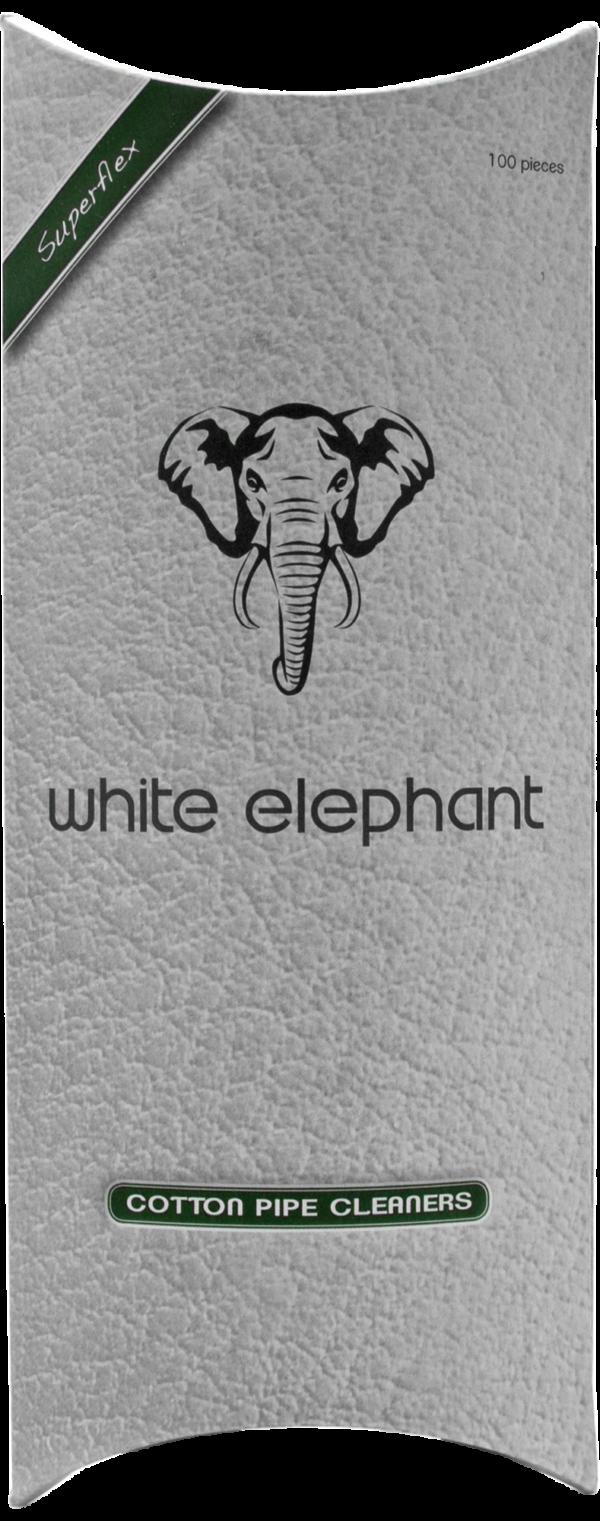 White Elephant Pfeifenreiniger Baumwolle 100er Packung