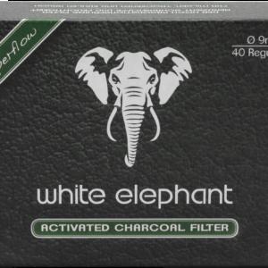 White Elephant Aktivkohle Filter 9mm 40er Packung