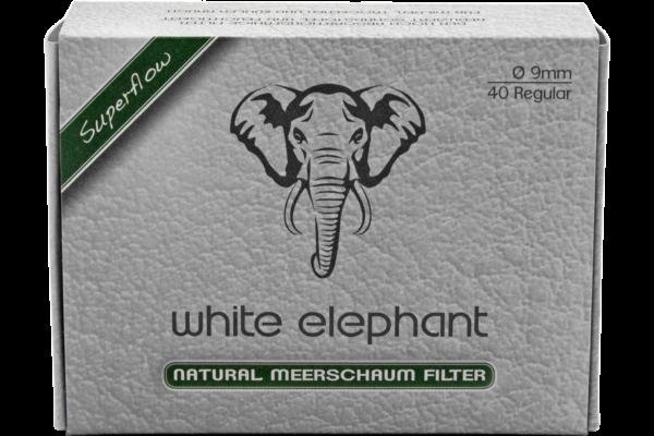 White Elephant Meerschaum Filter 9mm 40er Packung